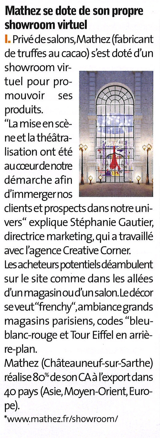 Magazine Manager lAlimentaire showroom Mathez
